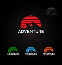 adventure mountain sports logo symbol vector image