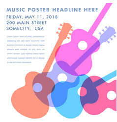an abstract acoustic guitar design vector image