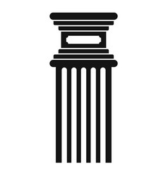Antique column icon simple style vector