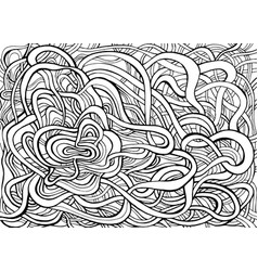 black and white intricate abstract swirl doodle vector image