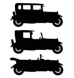 Black vintage cars vector