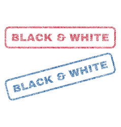 Black white textile stamps vector