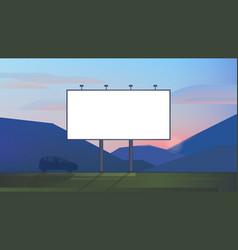 blank advertising billboard canvas mockup on vector image