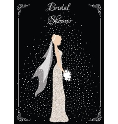 Bridal shower card vector