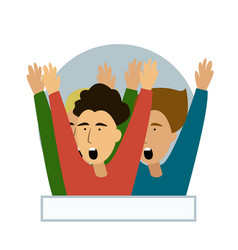Cheering crowd of football fans isolated soccer vector