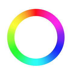 Color wheel palette rgb ryb cymk system color vector