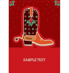 Cowboy red christmas vector