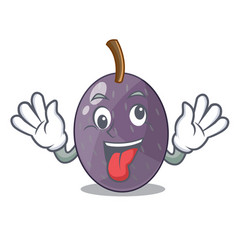 Crazy velvet tamarind fruit isolated on mascot vector