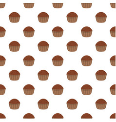 cup cake pattern seamless vector image