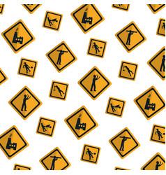 diamond caution emblem to industry maintenance vector image