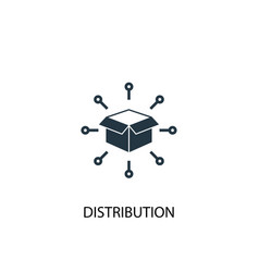 Distribution icon simple element vector