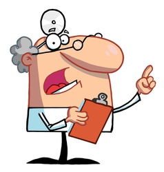 Doctor Holding A Clipboard And Hollering vector image vector image