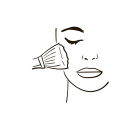 female face makeup sketch for your design vector image