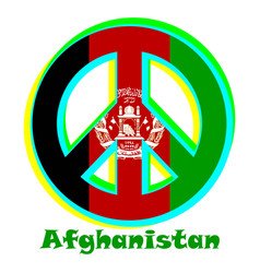 Flag of afghanistan as a sign of pacifism vector