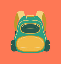 flat icon on stylish background fashionable bag vector image