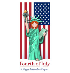 fourth of july us independence day card vector image