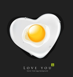 Fried egg like heart vector image