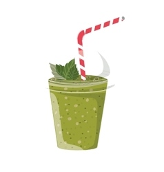 Green juice smoothie vector
