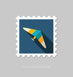 Hang glider stamp summer vacation vector