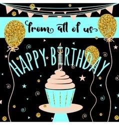 Happy Birthday greeting card Felicitation vector