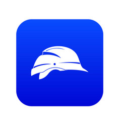 Hardhat icon digital blue vector
