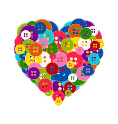 heart made buttons vector image