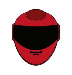 helmet flat vector image