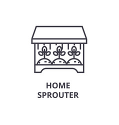 home sprouter line icon outline sign linear vector image