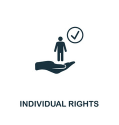 Individual rights icon symbol creative sign from vector