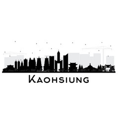 Kaohsiung taiwan city skyline silhouette with vector