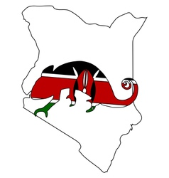 Kenya Chameleon vector image