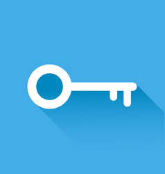 key icon in flat style isolated on blue vector image