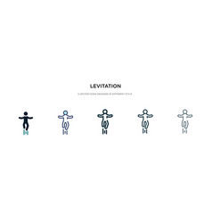 Levitation icon in different style two colored vector