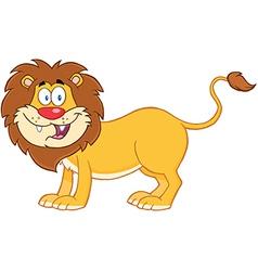 Lion Cartoon Mascot Character vector image