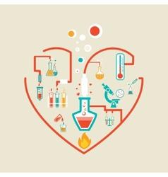 Love chemistry vector