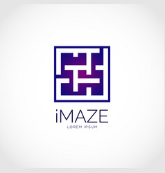 Maze symbol logo design vector