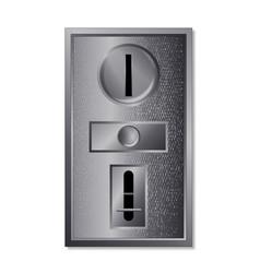 metal coin slot vector image