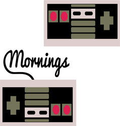 Mornings vector