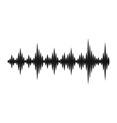 Music sound waves icon simple style vector