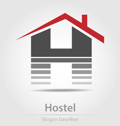 Originally designed hostel business icon vector