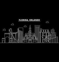 Orlando silhouette skyline usa - orlando vector