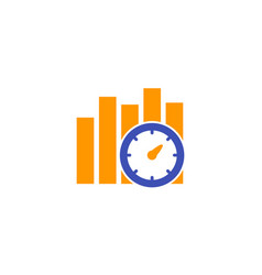 Performance indicator icon on white vector