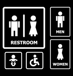 Restroom Sign set vector image