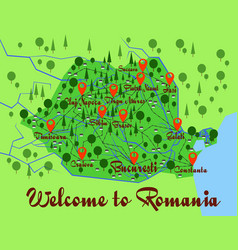 Romania country infographics vector