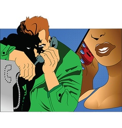 Romantic conversation vector