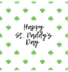 saint patricks day greeting card with sparkled vector image