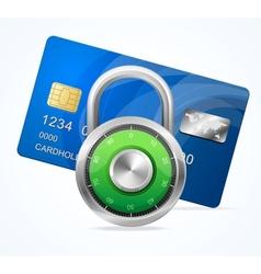 Security card concept padlock vector
