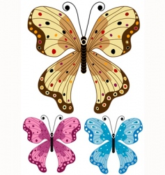 set decorative isolated butterflies vector image