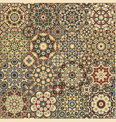 Set of octagonal and square patterns vector
