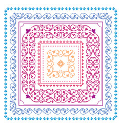 Square frame set template bandana with vintage vector